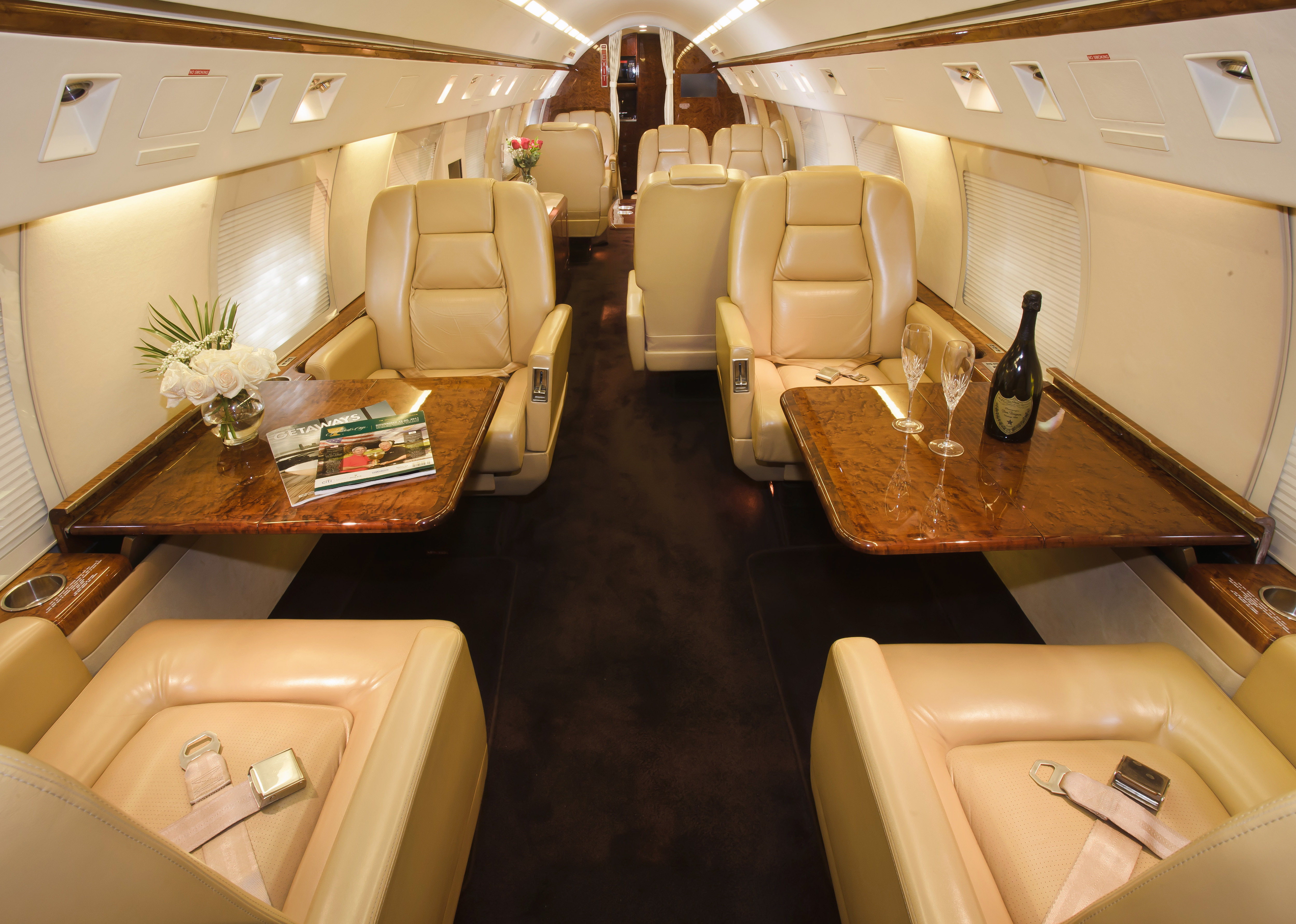 Search private jet rental prices - Gulfstream Giv Front Exterior View Gulfstream Giv Interior
