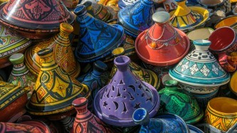 Morocco Colorful Pottery