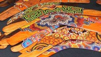 Sydney Shopping Aboriginal Boomerangs