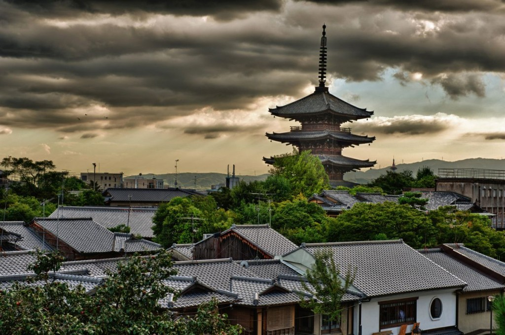 Kyoto - Sunset over a To-Ji Pagoda-