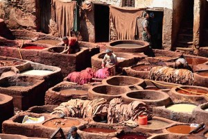 Fes Tanneries in Morocco Small