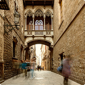 Bridge at Barri Gotic Barcelona