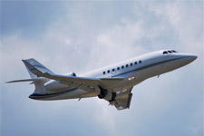 Falcon 2000LX in Flight