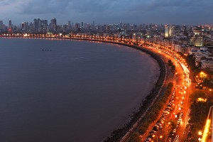 Mumbai India Coastline Lights