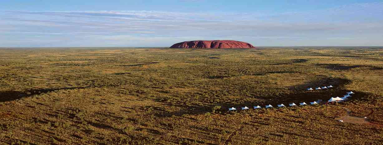 Ayers Rock with Longitude 131 Resort in Foreground