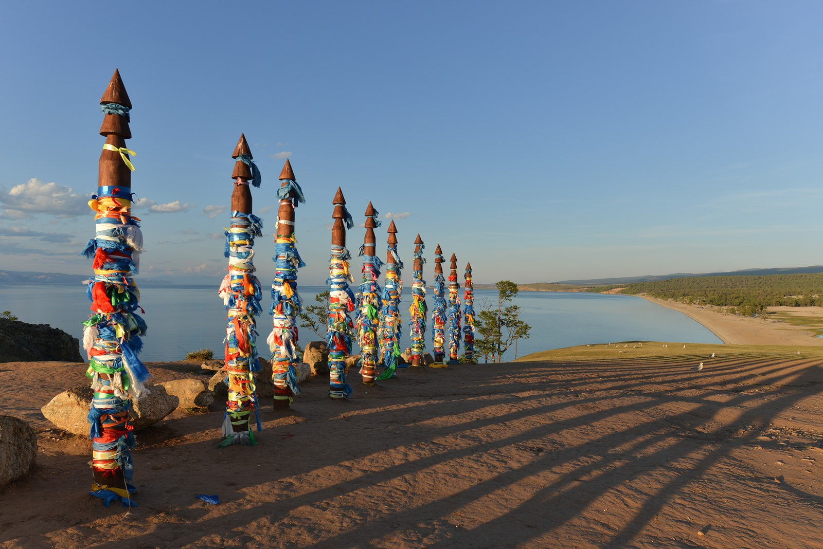 Buryat-Traditional-Pagan-Holy-Poles-Lake-Baikal