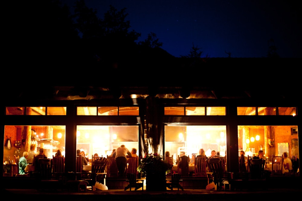 Clayoquot cookhouse night dining