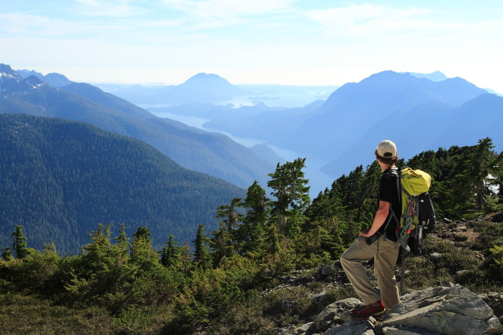 Clayoquot heli hiker big views