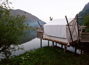 Clayoquot massage tent estuary