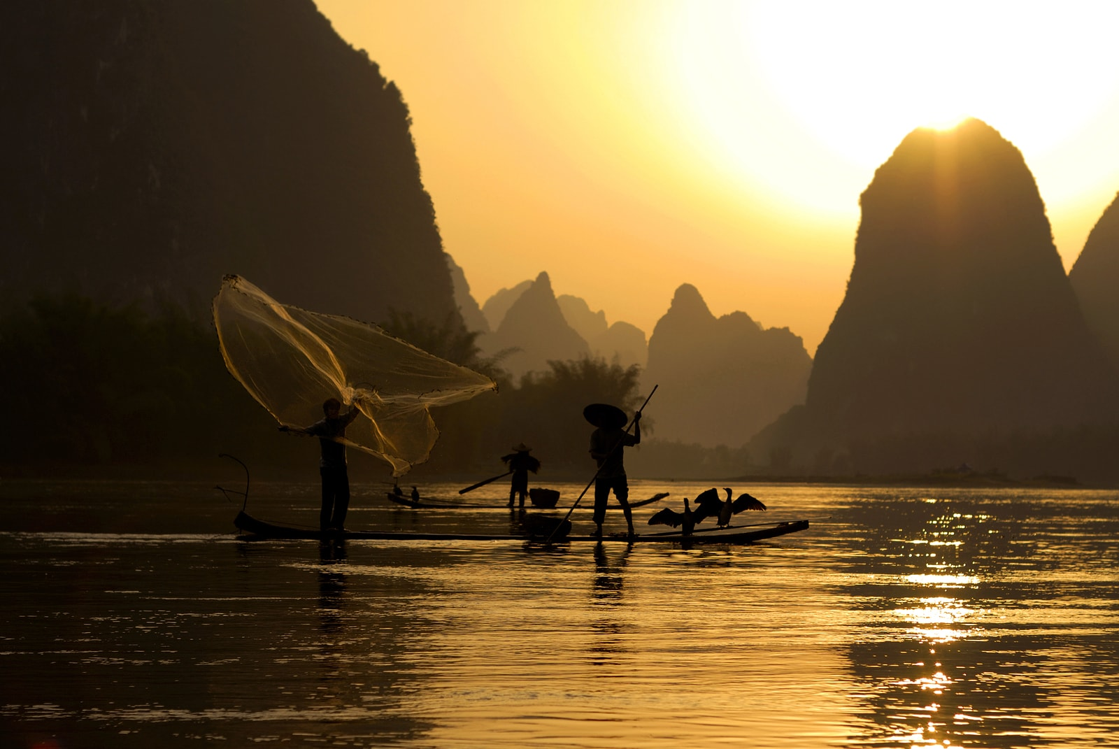 Fishing on the Li River Guilin