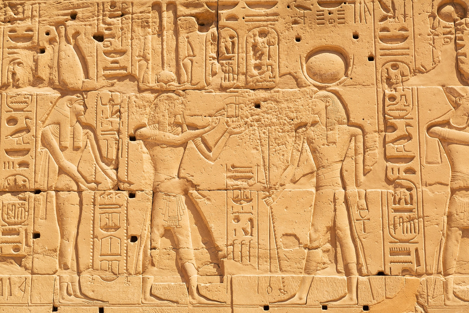 Hieroglyphic of Pharaoh Civilization in Karnak Temple
