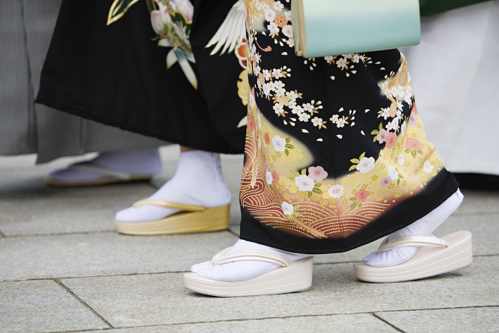 Japanese Women in Traditional Dress at Meiji Shrine, Tokyo, Japan