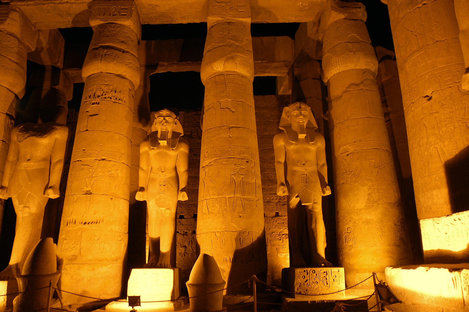 Lukxor Temple in Ancient Egypt