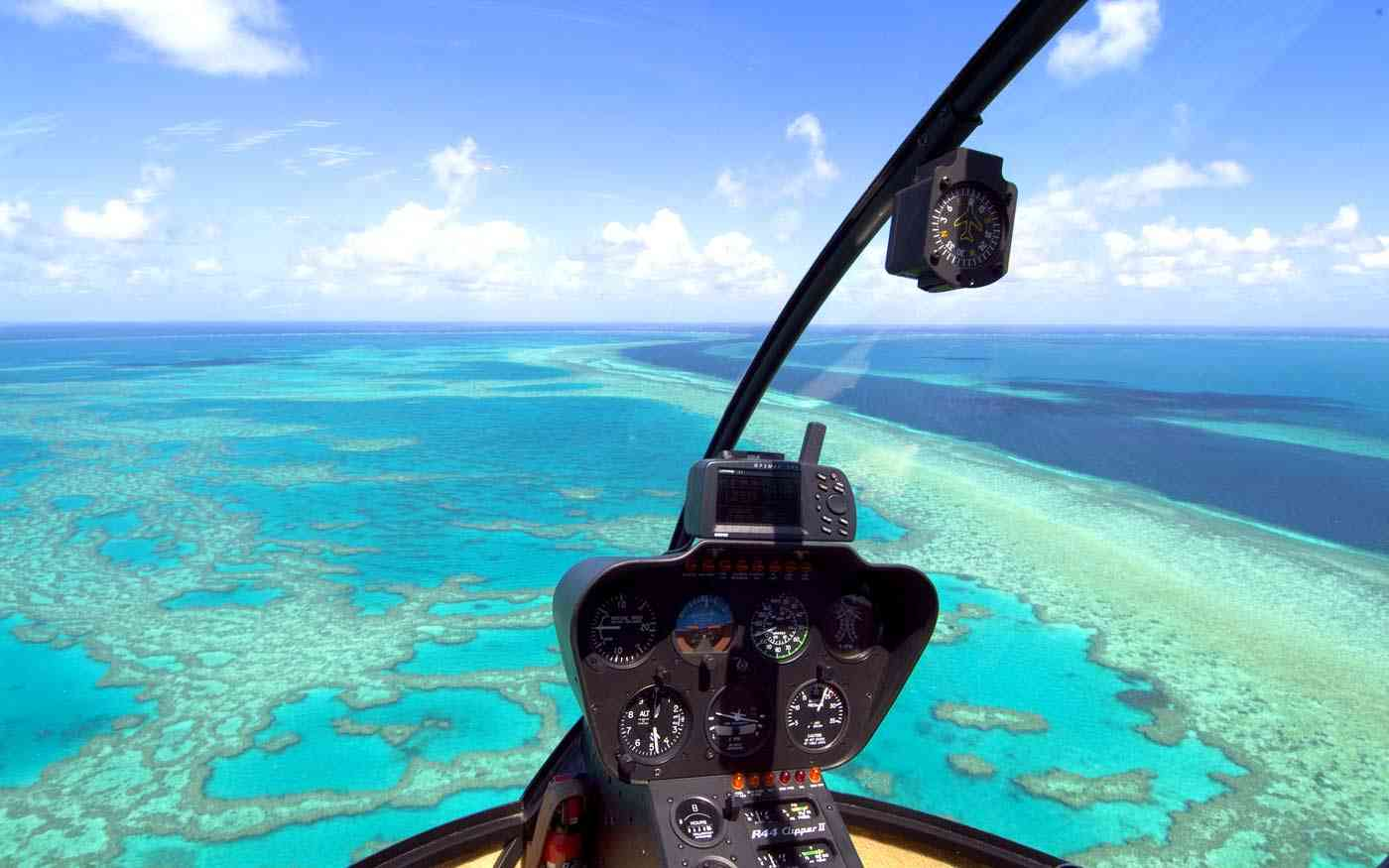 Overflying coral reefs
