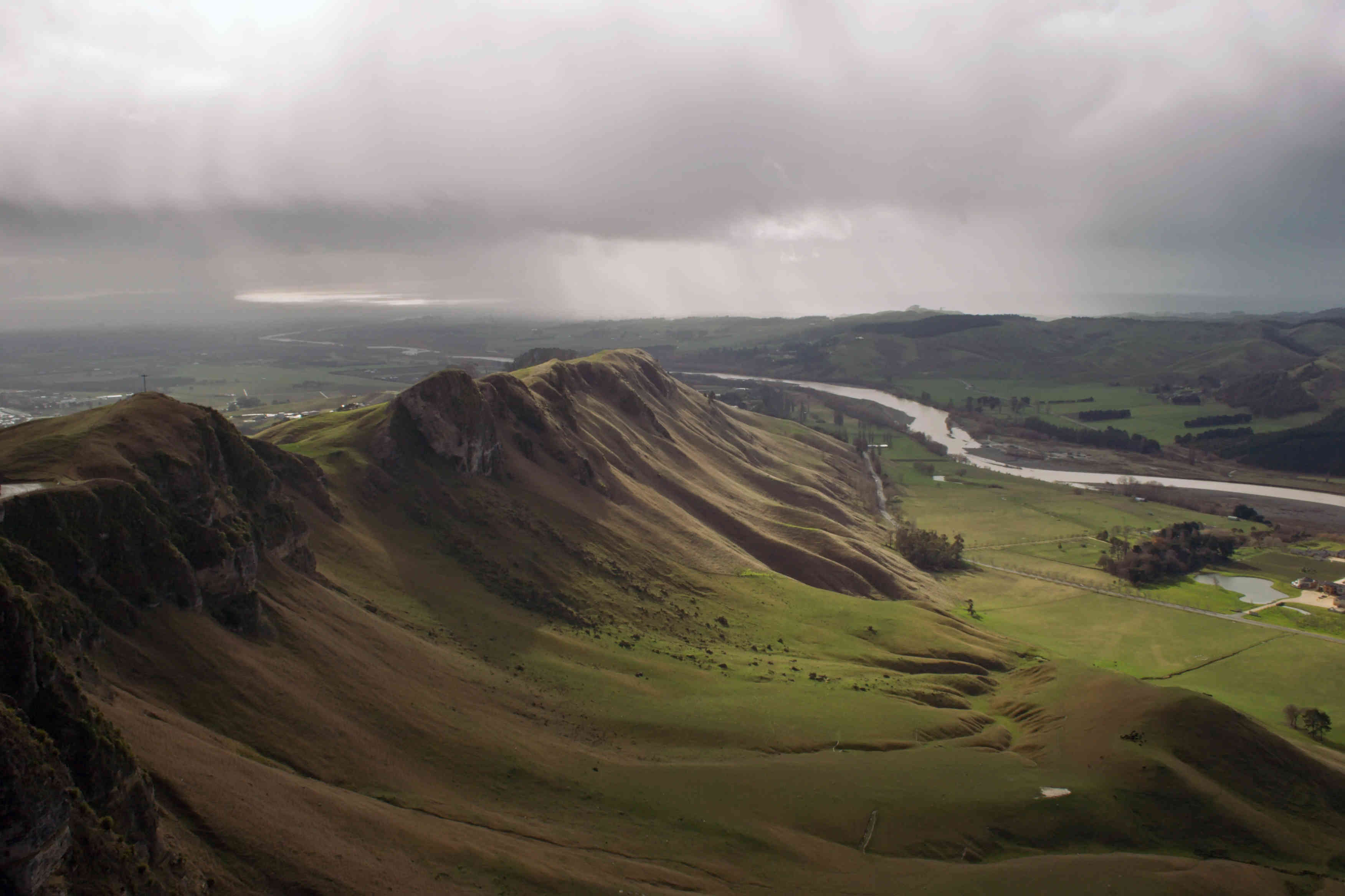 Te Mata Peak looking down Tuki Tuki River