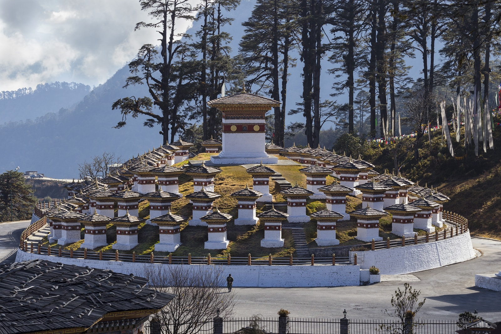 The Stupas at Dochula Pass in Bhutan