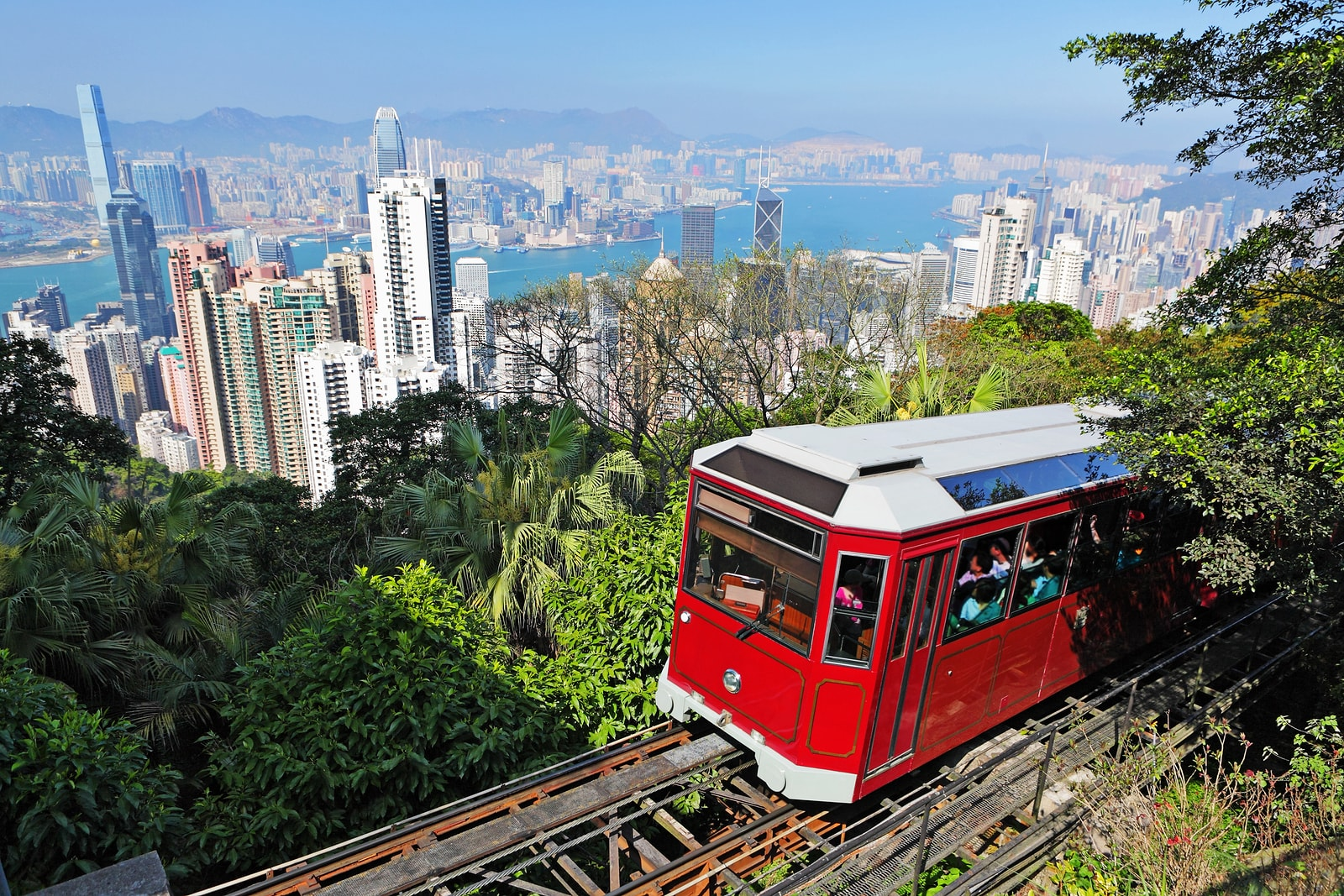 Victoria Peak Funicular Hong Kong China